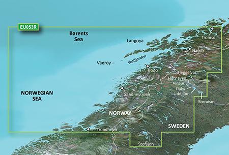 BlueChart G2 Vision HD VEU053R Trondheim - Tromsø
