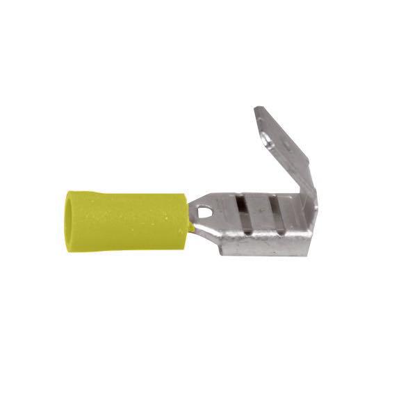 Fladstik m/han gul 6.4x0.8mm 10stk