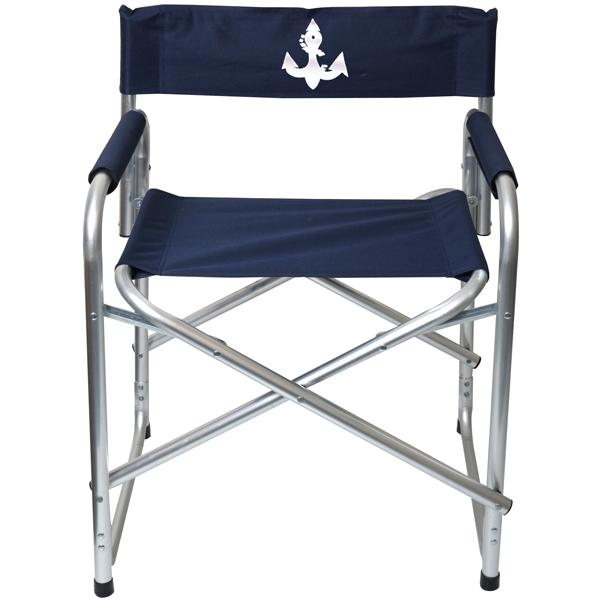 Dæksstol blå  aluminium l50 x d42 x h74 cm