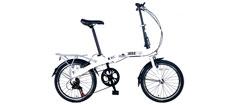 1852 foldecykel model d1 hvid med 7 gear