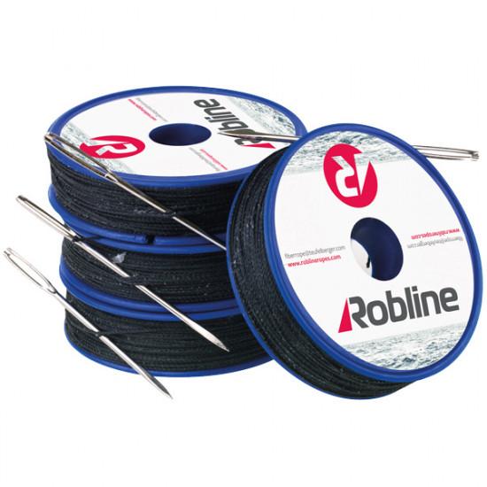 Robline vokset taklegarn m/nål 0,8 mm hvid rulle m