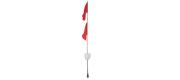 Garnbøje 2,1 m m/2 flag og refleks