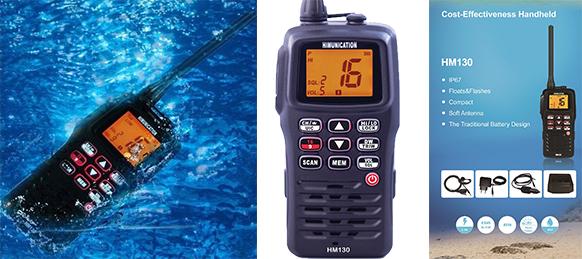 HM130 VHF Radio 5W Vandtæt, Flyder m Float-&-Flash