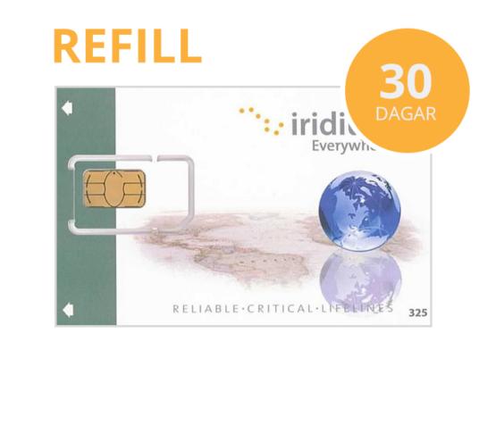 30 dages forlængelse af Iridium kontant kort