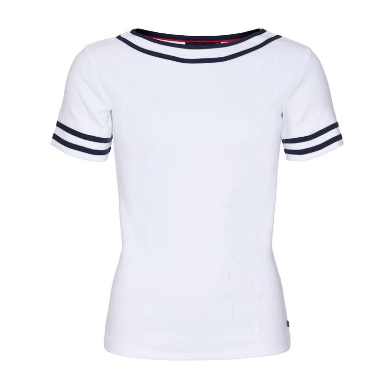 Key West Thea Dame T-shirt White Str. S