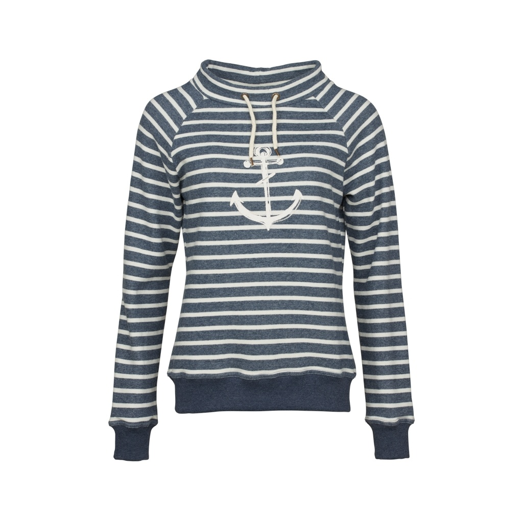 Key West Carmen Sweatshirt Navy/Pearl Str. M