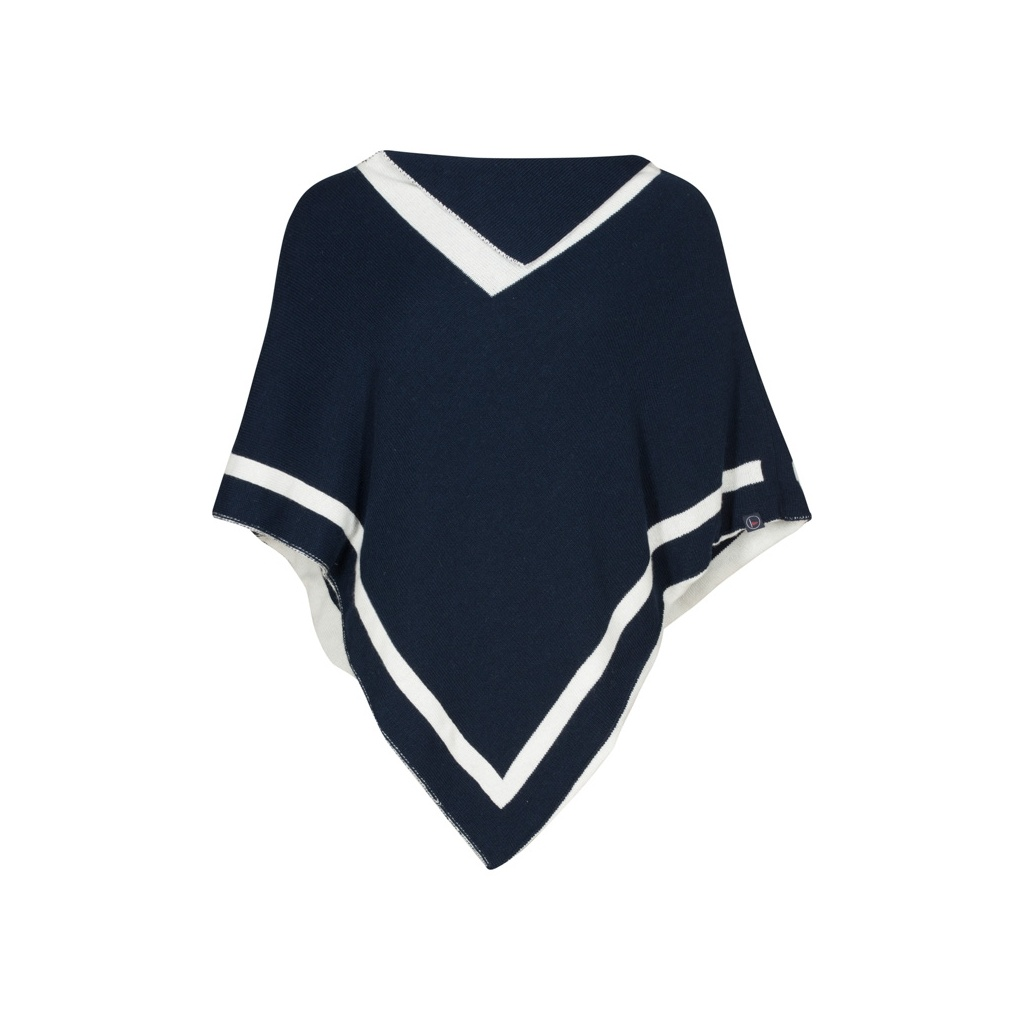 Key West Morven Poncho Navy/Pearl One Size