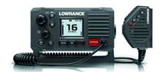 Lowrance Link-6S VHF med m. GPS, DSC Sort NMEA0183
