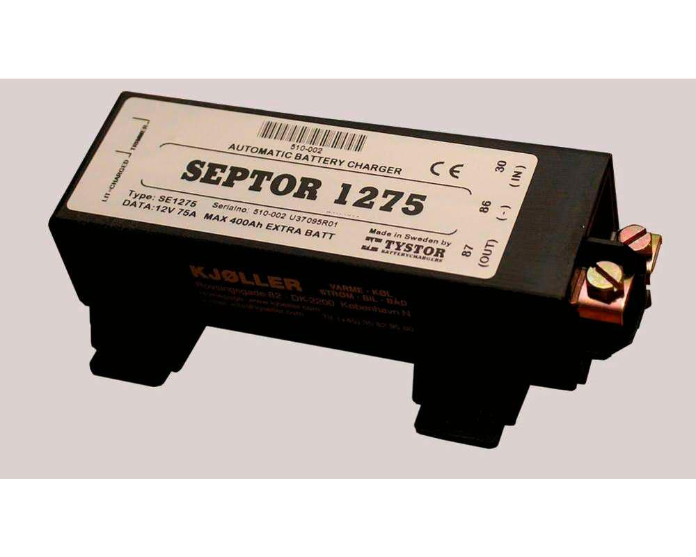 Septor 1275 Duo ladeskillerelæ Batteriseperator