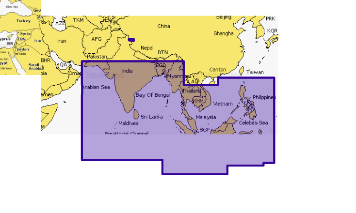 Navionics Plus 31XG Indian Ocean & South China Sea