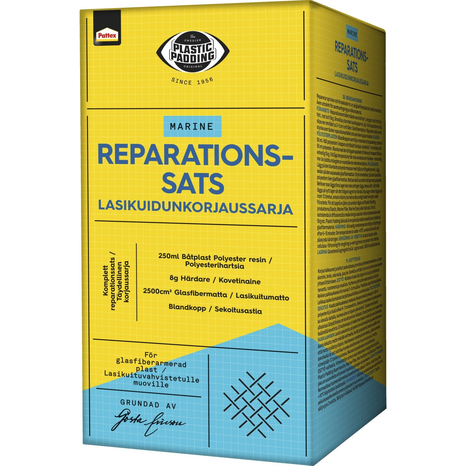 Plastic Padding reparationskit. 250ml.