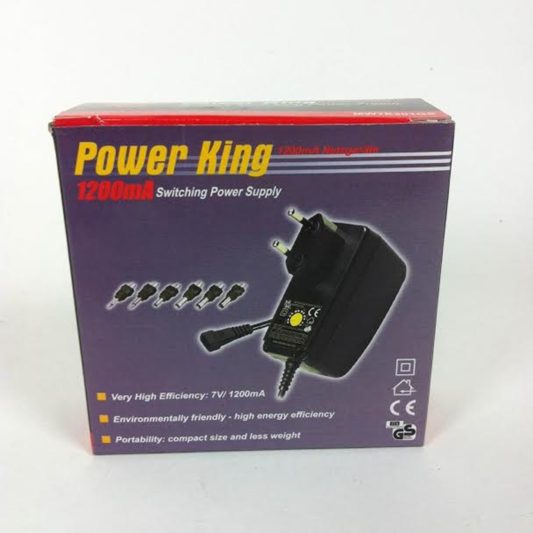 Oplader. Variable output. Power King 1200mA