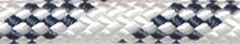 Robline sirius 300 blå/hvid 10mm 35m skødekrog