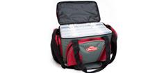 Berkley taske med 4 store grejæsker grå/rød