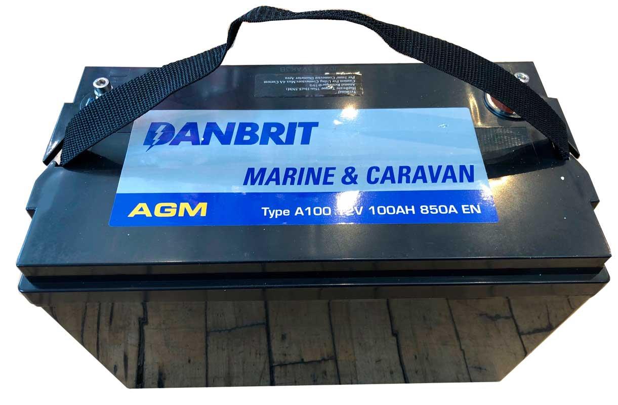 AGM batteri Danbrit 100 Ah