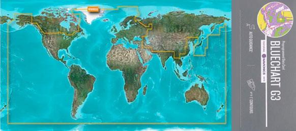 BlueChart G3, HXWW001, WorldWide