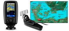 Garmin Echomap Plus 42cv, GT20 og G3 søkort