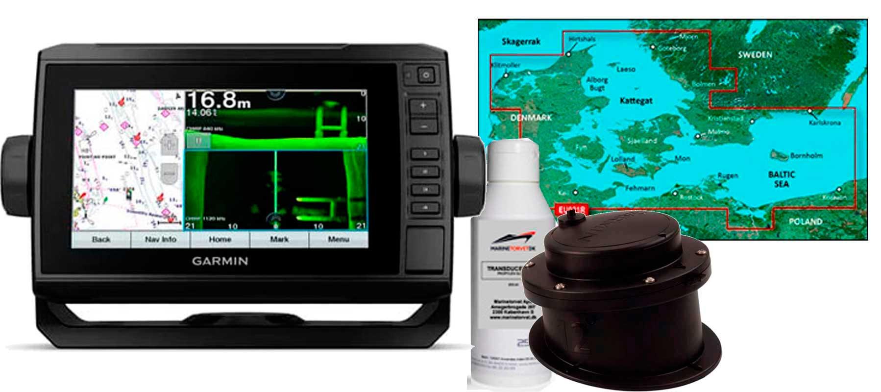 Garmin echoMAP UHD 72sv med GT15M-IH og HXEU021R