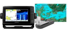 Garmin echoMAP Plus 72sv, GT52HW-TM og G3 søkort