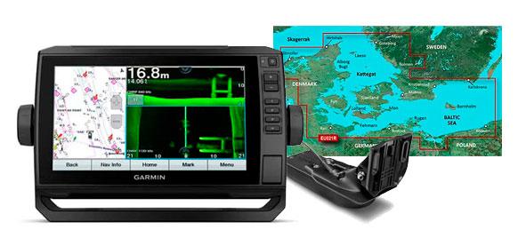 Garmin echoMAP UHD 92sv, GT52HW-TM og HXEU021