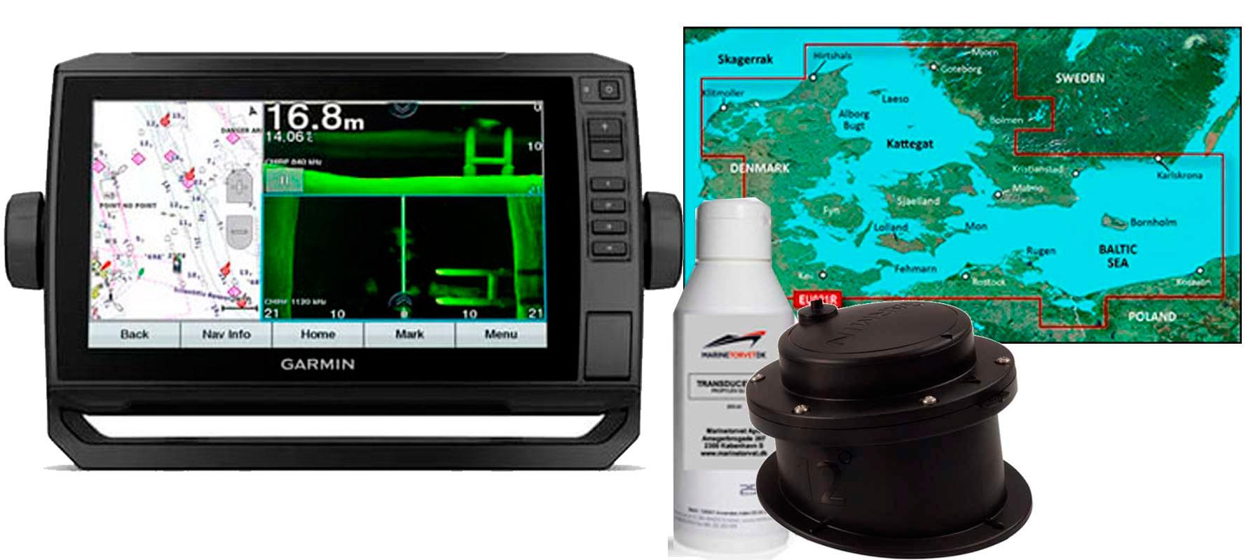 Garmin echoMAP UHD 92sv, GT15-IH  og HXEU021R