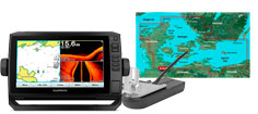 Garmin echoMAP Plus 92sv, GT52HW-TM og G3 søkort