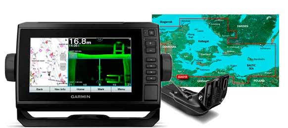 Garmin echoMAP UHD 72sv, GT52HW-TM og HXEU021R