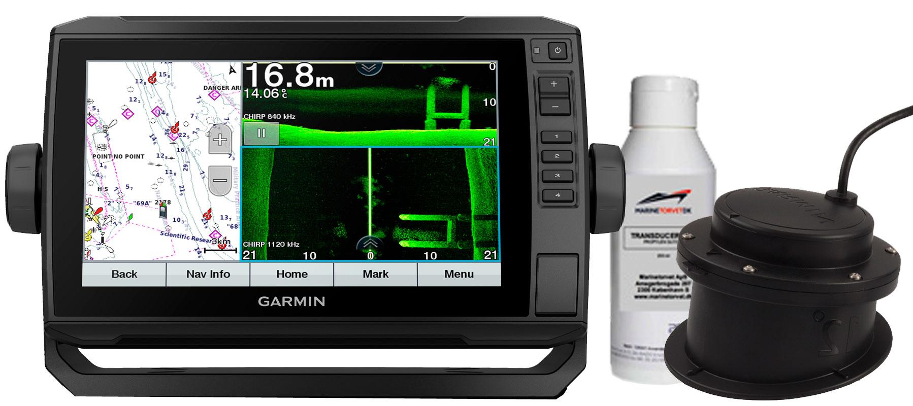 Garmin echoMAP UHD 92sv med GT15-IH transducer