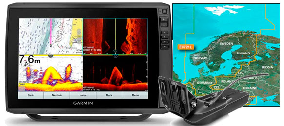 Garmin echoMAP Ultra 122sv, GT54UHD-TM, VEU721L