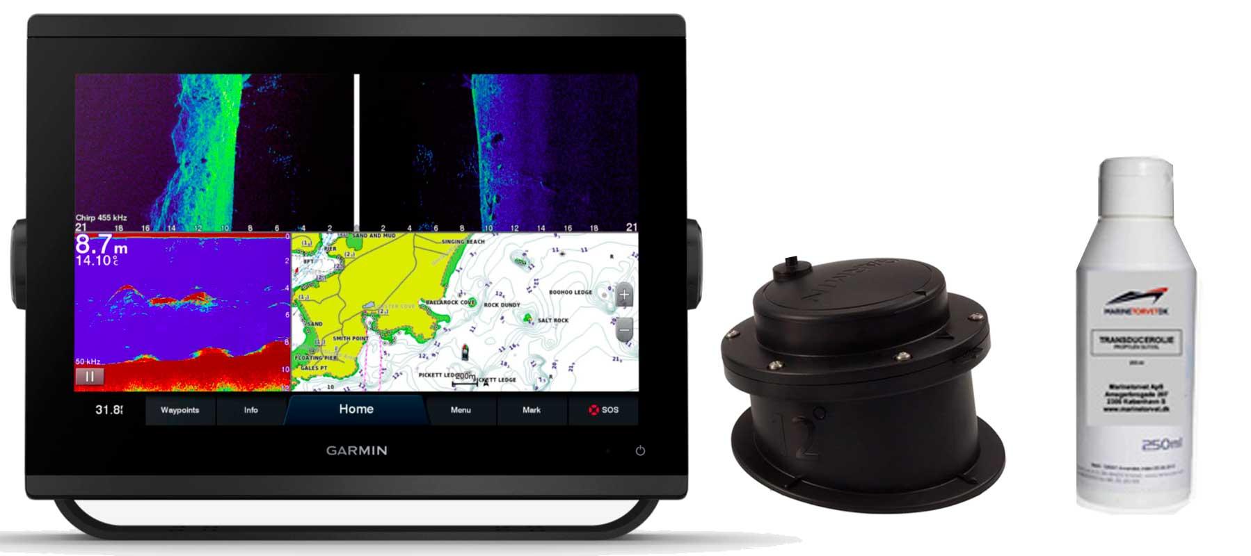 Garmin GPSmap 1223xsv med GT15M-IH transducer