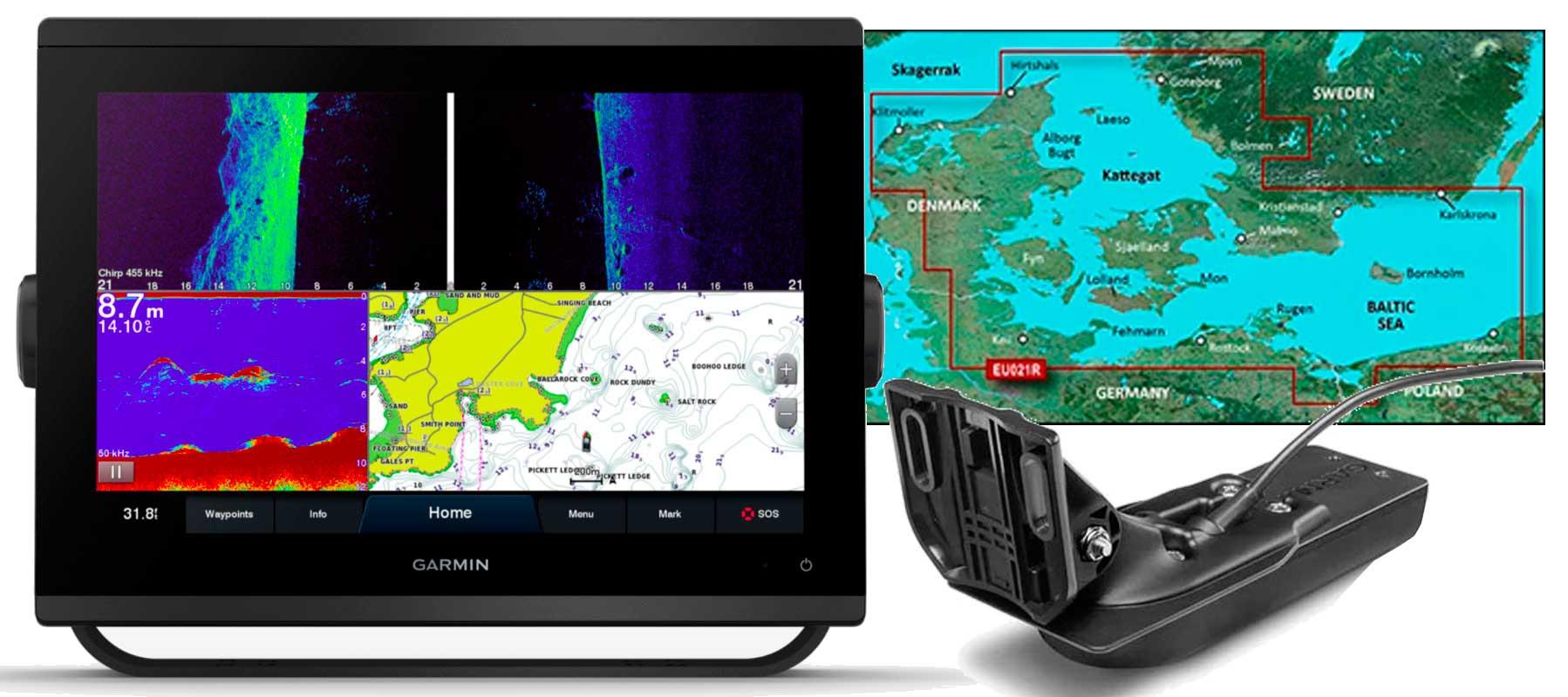 Garmin GPSmap 1223xsv, GT56UHD-TM og HXEU021R