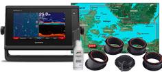 Garmin GPSmap 722xs med HXEU021R og GT15M-IH