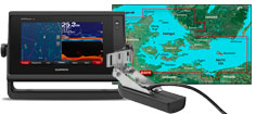 Garmin GPSmap 722xs med HXEU021R og GT22HW-TM