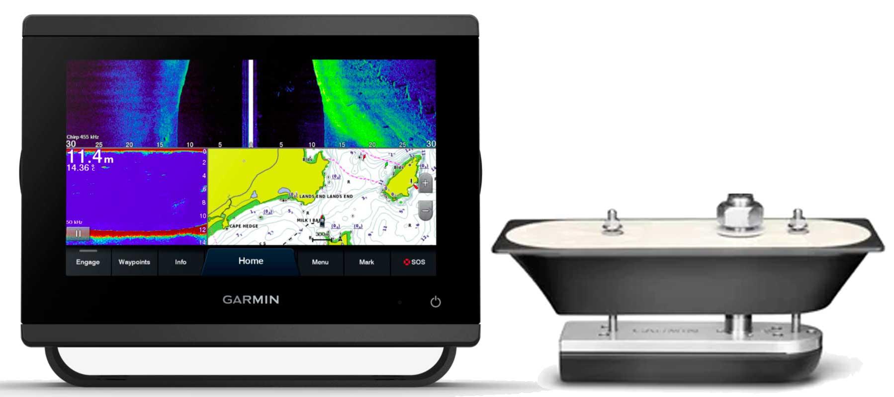 Garmin GPSmap 723xsv med GT51M-TH transducer