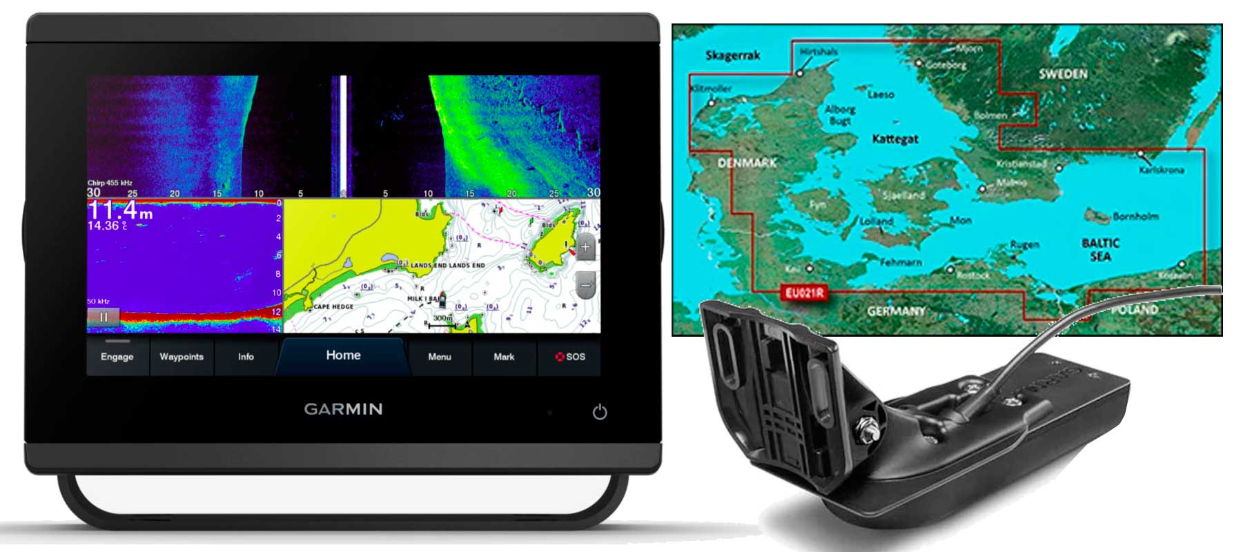 Garmin GPSmap 723xsv, GT56UHD-TM og HXEU021R