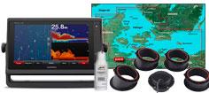 Garmin GPSmap 922xs med HXEU021R og GT15M-IH