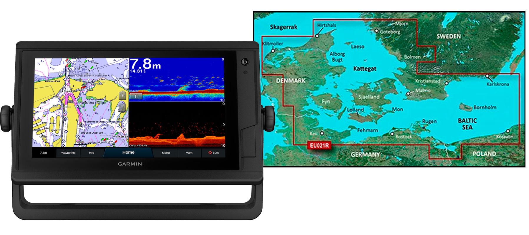 Garmin GPSmap 922xs PLUS med HXEU021R søkortkort