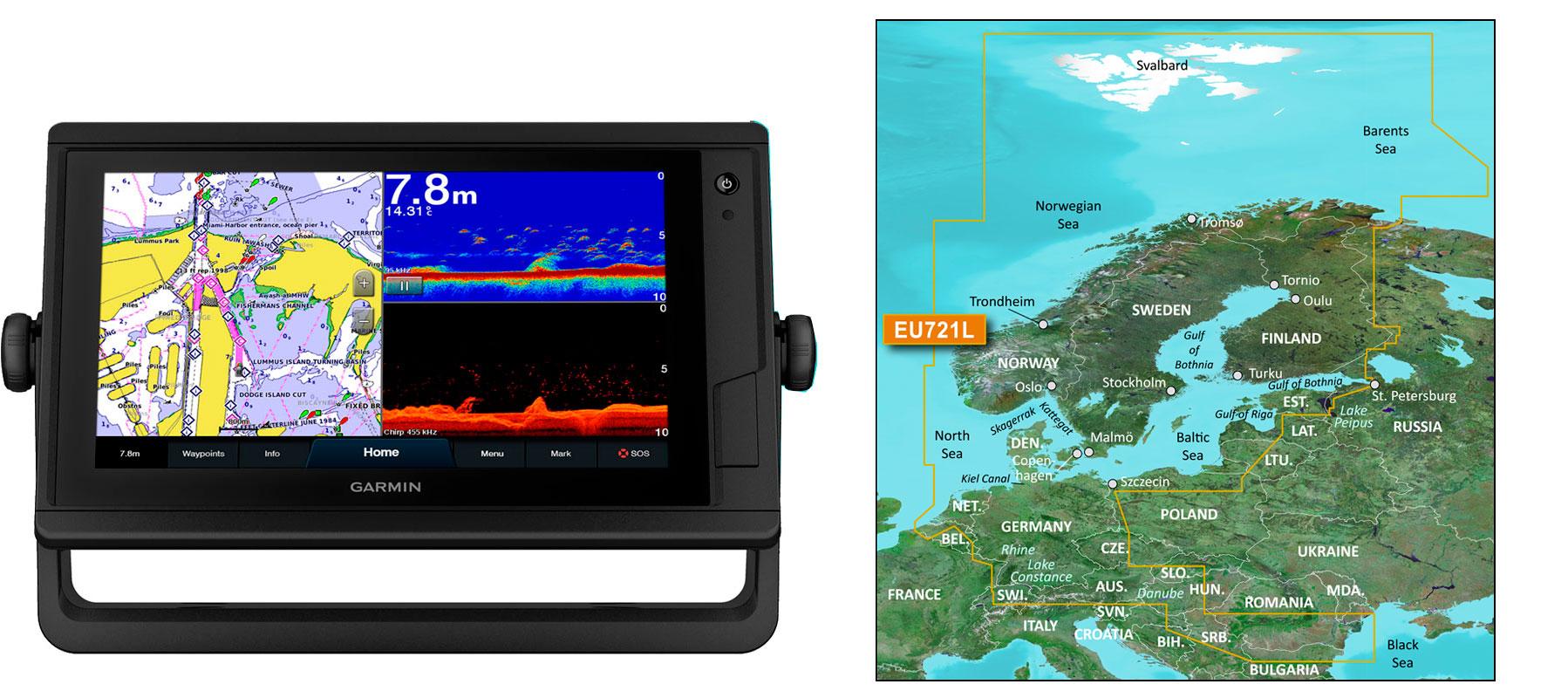 Garmin GPSmap 922xs PLUS med G3 Vision VEU721L