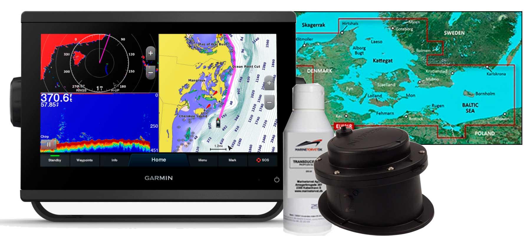 Garmin GPSmap 923xsv, GT15M-IH og HXEU021R