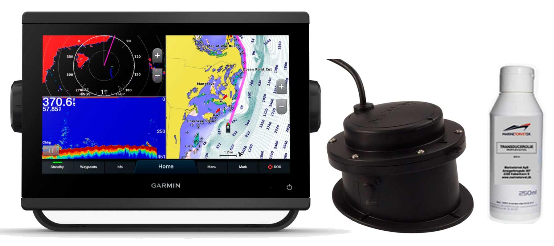 Garmin GPSmap 923xsv med GT15M-IH transducer