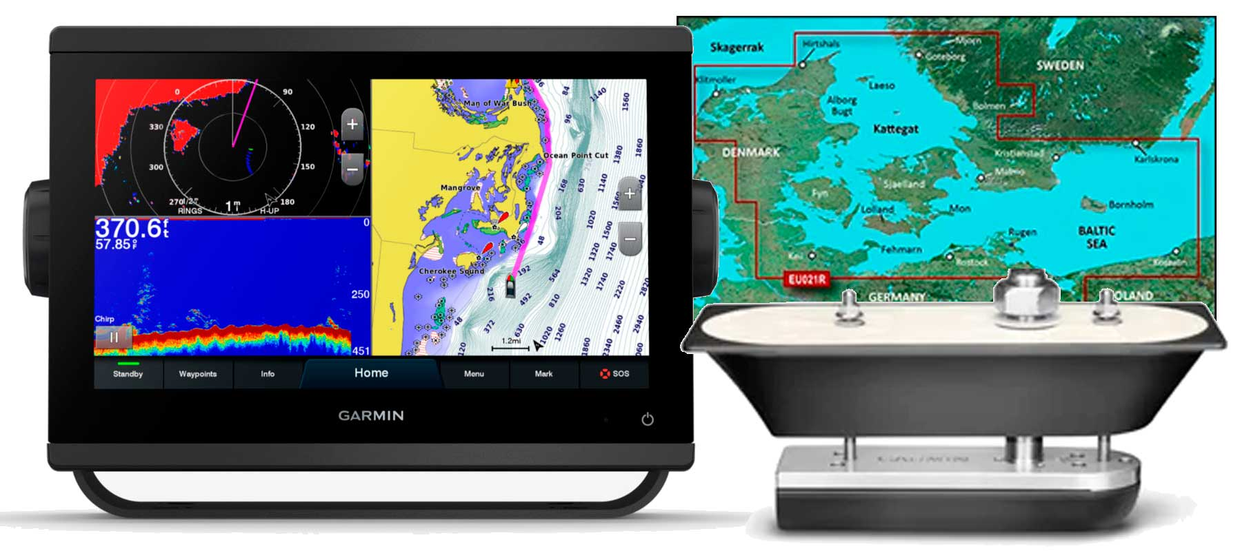 Garmin GPSmap 923xsv, GT51M-TH og HXEU021R