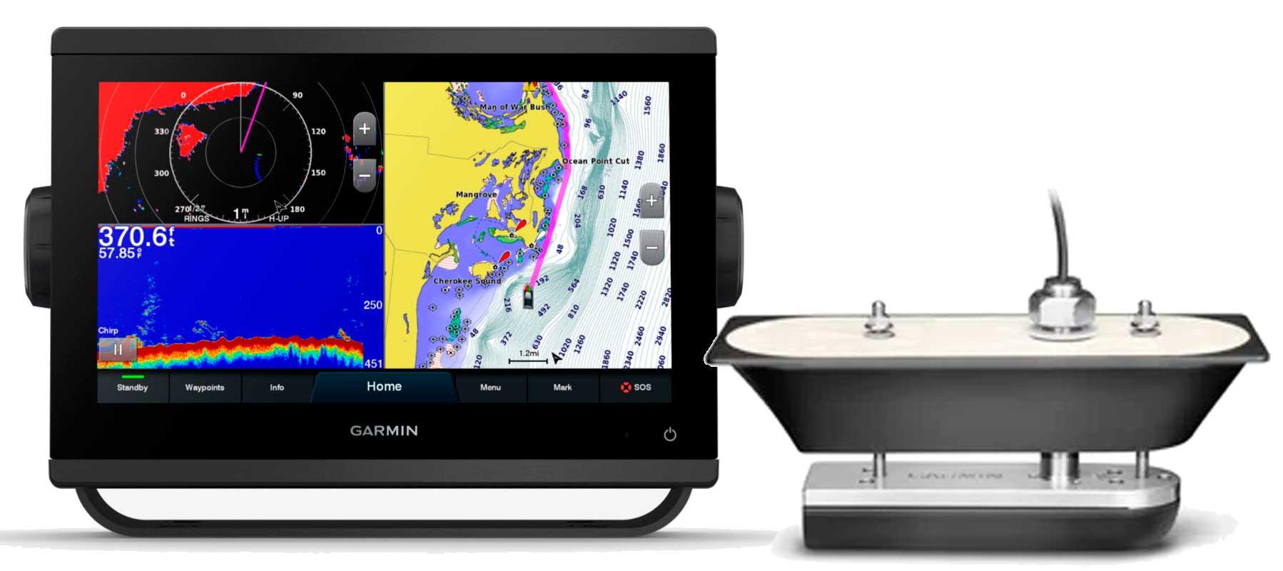 Garmin GPSmap 923xsv med GT51M-TH transducer