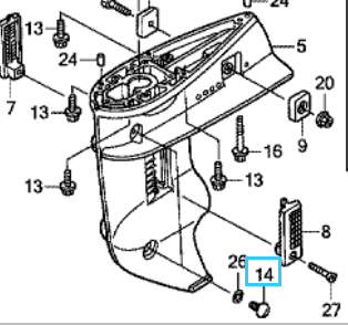 Honda BOLT, GEAR OIL CHECK 90101-ZW9-003