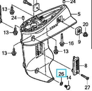 Honda gear O-RING, 6.9X1.45 91301-ZW4-003