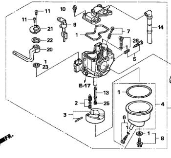 Honda CARBURETOR ASSY. (BF33G A)