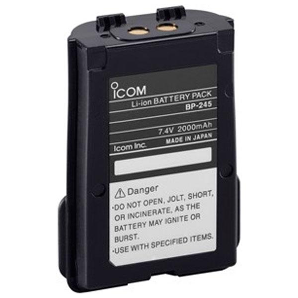 Icom BP-245H: 7,4V/1900mAh, Li-Ion, til IC-M73