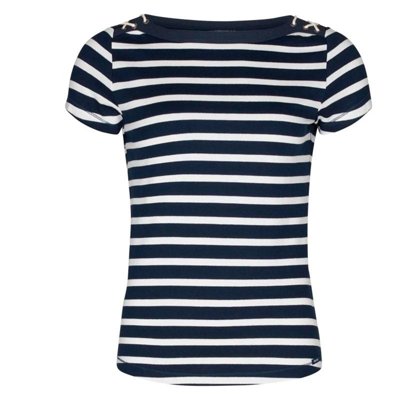 Key West Aurora Dame T-shirt Pearl/Navy Str. M