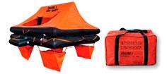 Lalizas 4 personer redningsflåde i taske