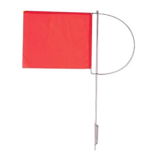 Vindviser m. rødt flag 110x130mm