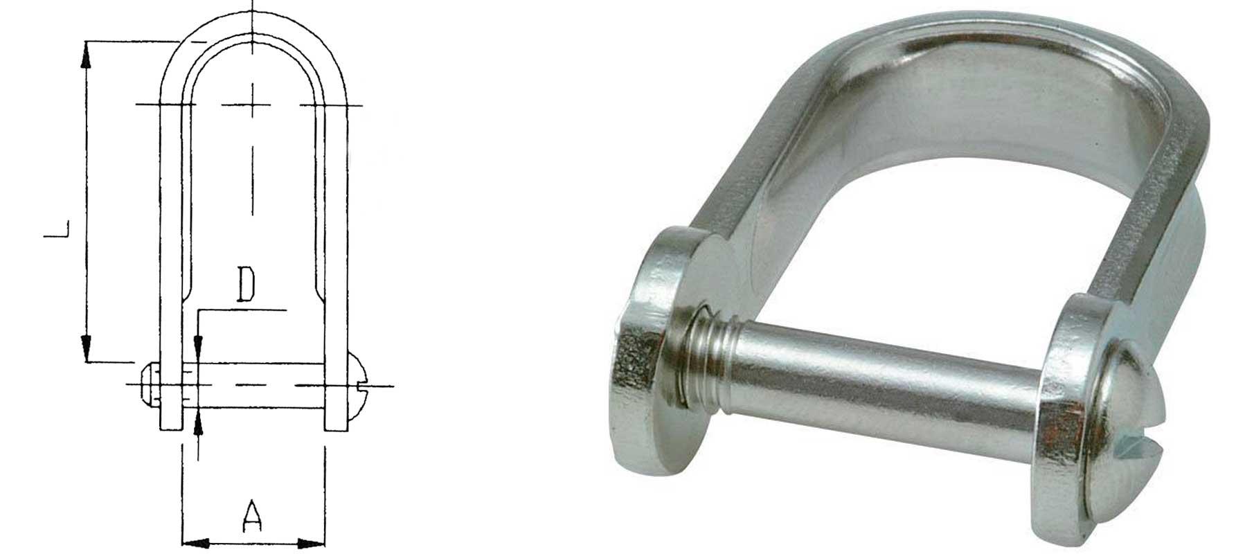 Sjækel med kærvskrue 5x25mm